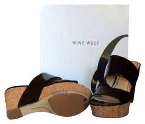 Nine West Black patent Platforms