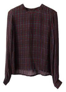 A.L.C. Silk Top Plaid
