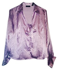 Apostrophe Button Down Shirt Lavender