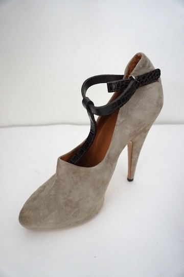 Givenchy Fetish Winter Work Stiletto Heels Gray Pumps