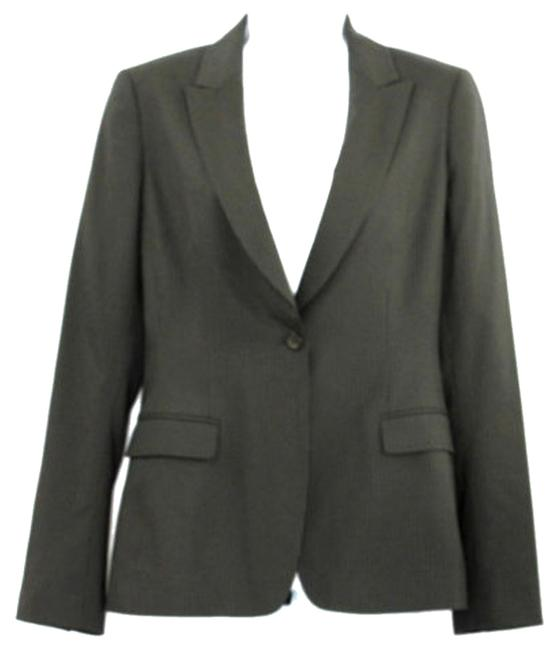 Elie Tahari Stripes Black Wool Stretch Blazer