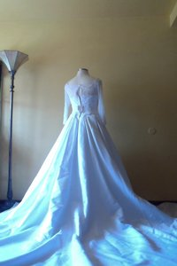 Oleg Cassini 3/4 Sleeve Beaded Ill B Wedding Dress
