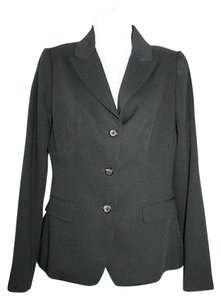 Elie Tahari Handstitched Black Wool Blazer