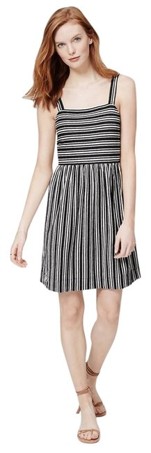 Preload https://img-static.tradesy.com/item/5550112/ann-taylor-loft-black-stripe-summer-short-casual-dress-size-petite-4-s-0-0-650-650.jpg