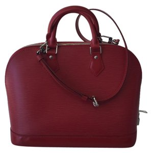 Louis Vuitton Handbag Luxury Leather Tote in Red