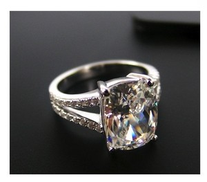 Size 6 Nscd Vvs1 Pt950 Square Diamond 3.85ct Ring Bridal Wedding Engagement