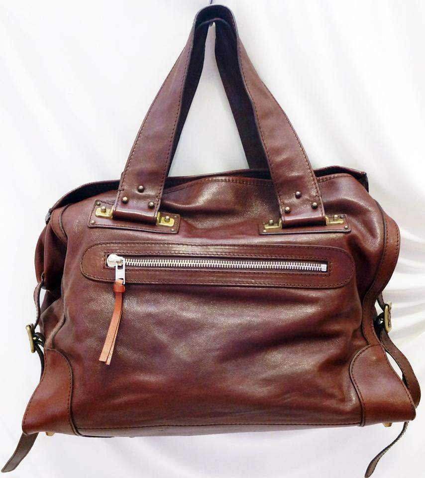 chloe bag price - Chlo�� New Chloe Tracy Chocolate Leather Tote Hand Large Brown ...