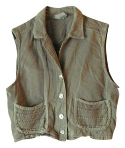 Nina Piccalino Vintage Vest Mother Of Pearl Button Down Shirt