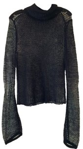 A|X Armani Exchange Knit Mesh See-through Mohair Sweater