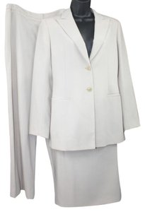 Ice Mania MANI 3-PC. BUTTONED WOOL PANT SKIRT SUIT US 8 I 42 *MADE IN ITALY**