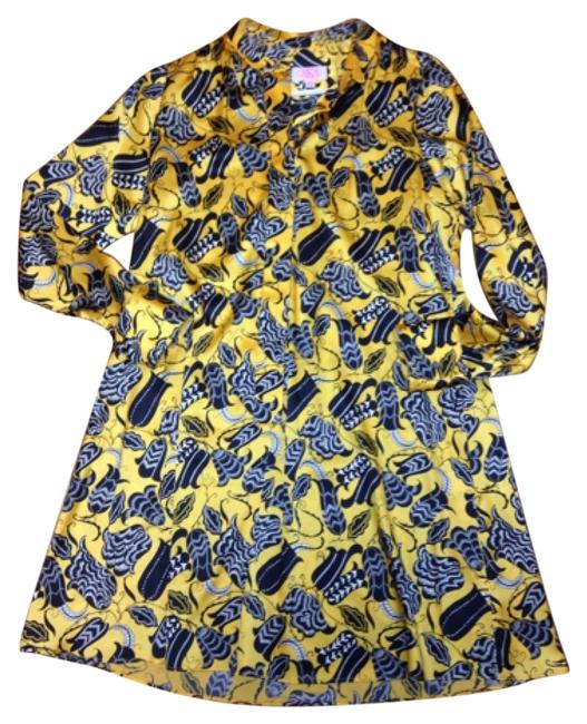 Item - Yellow Above Knee Short Casual Dress Size 2 (XS)