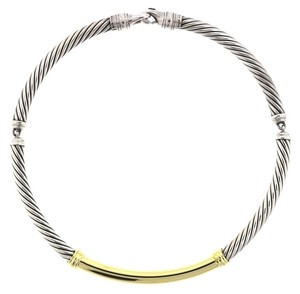 David Yurman David Yurman Metro Necklace Cable Sterling Silver and Gold