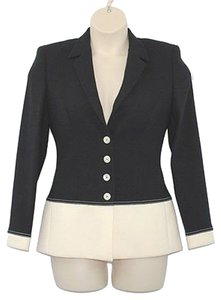 Escada Colorblock Wool Blazer