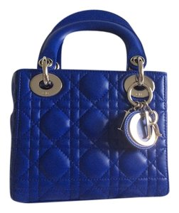 Dior Satchel in Blue Persan