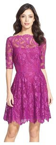 Cynthia Steffe Lace Sheer Dress