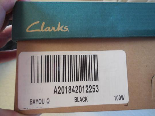Clarks Leather Uppers Black Flats