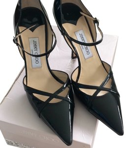 Jimmy Choo Patent Leather Pointed Toe Black Formal