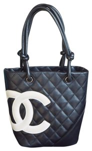 Chanel Quilted Leather Cambon Tote in Black