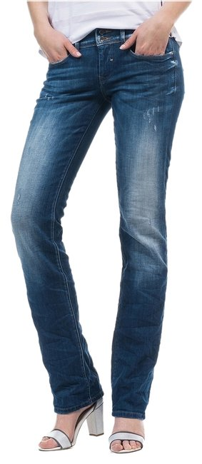 Salsa European Miss Me Straight Leg Jeans-Distressed