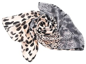 Other Pink & Black Leopard Print Chiffon Long Scarf Free Shipping