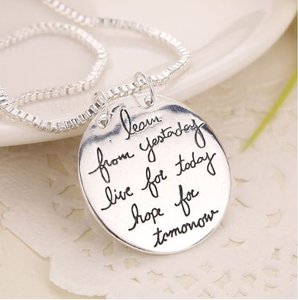 Live The Life You Love Silver Necklace Free Shipping