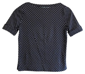Ralph Lauren Polka Dot Top Black and White