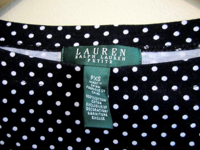 Ralph Lauren Polka Dot Cotton Top Black and White