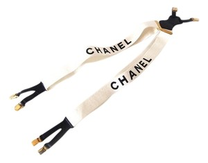 Chanel Chanel Suspenders White Black
