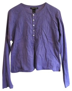 Polo Jeans Company Periwinkle Cotton Embroidered Top Purple, Periwinkle