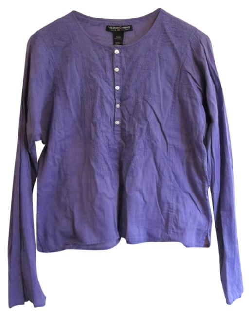 Preload https://img-static.tradesy.com/item/5553478/purple-periwinkle-cotton-embroidered-blouse-size-4-s-0-0-650-650.jpg