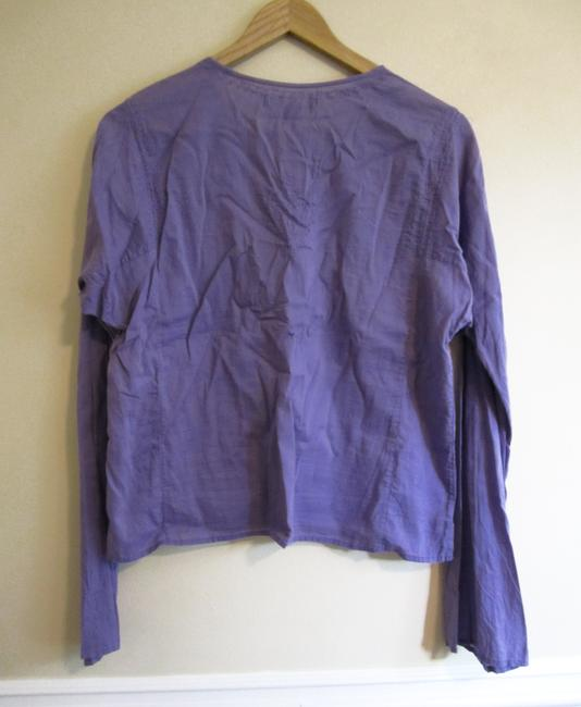 Polo Jeans Company Cotton Embroidered Top Purple, Periwinkle