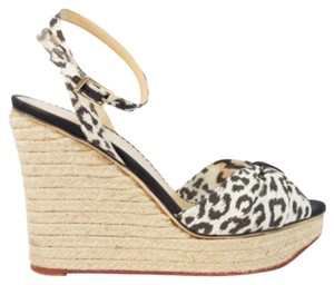 Charlotte Olympia Leopard Espadrille Blac Wedges