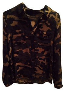 Forever 21 Button Down Shirt Camo