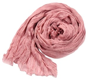 Dusty Rose Pink Cotton Crinkle Scarf Wrap Free Shipping