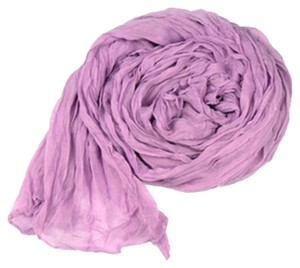 Lavender Crinkle Cotton Long Scarf Wrap Free Shipping