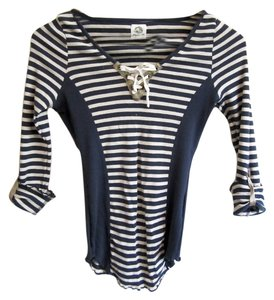 Tiny Striped Top Blue and White stripes