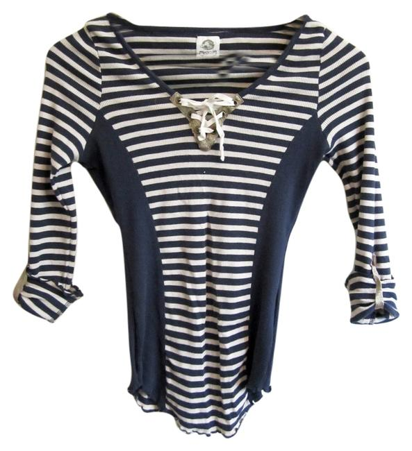 Preload https://img-static.tradesy.com/item/5554276/tiny-blue-and-white-stripes-blouse-size-petite-4-s-0-3-650-650.jpg