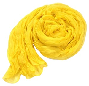 Other Sunshine Yellow Cotton Crinkle Scarf Wrap Free Shipping