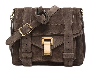 Proenza Schouler Suede Pouch Made In Italy Cross Body Pepe/Olive Green Messenger Bag