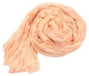 Other Peach Cotton Crinkle Long Scarf Wrap Free Shipping