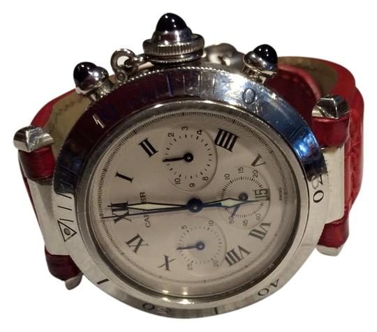 Cartier CARTIER PASHA CHRONOGRAPH STAINLESS LEATHER STRAP