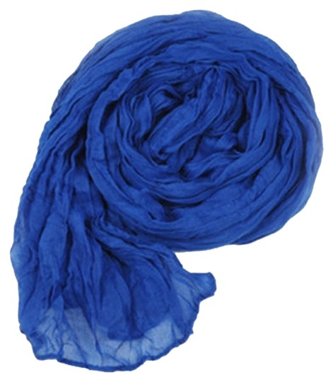 Other Royal Blue Crinkle Cotton Scarf Wrap Free Shipping