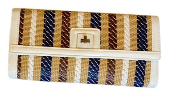 Preload https://item3.tradesy.com/images/sondra-roberts-summer-stripe-tan-white-and-navy-blue-woven-clutch-5555587-0-0.jpg?width=440&height=440