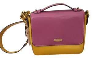 Tahari Patent Leather Spring Summer Color-blocking Shoulder Bag
