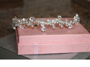 Crystal & Sterling Silver Tiara / Headband By Hair Comes The Bride (new In Box)