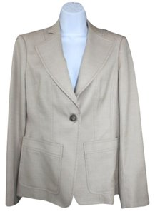 Worth Wool Silk Tan Blazer