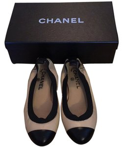 Chanel Black and Nude Flats
