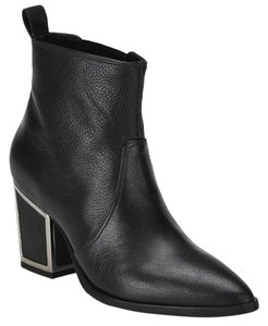 Kat Maconie Heeled Leather Ankle Black Boots