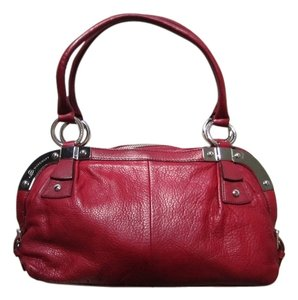 B. Makowsky B. Leather Metal Buckles Shoulder Bag