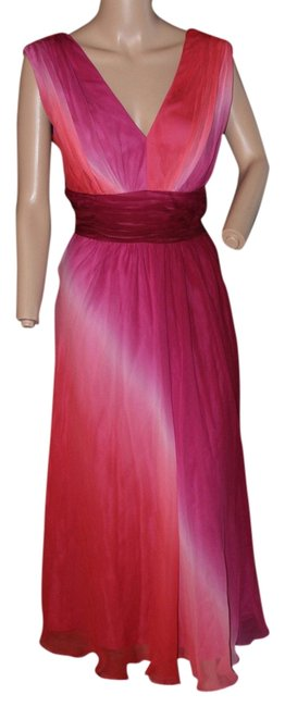 Preload https://img-static.tradesy.com/item/5557444/rainbow-redspurplepink-silk-ombre-mid-length-workoffice-dress-size-8-m-0-0-650-650.jpg